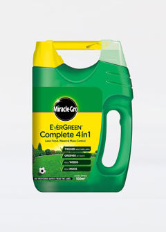 100sqm MiracleGro E.green 4In1 Lawn Feed&Weed&Moss Control