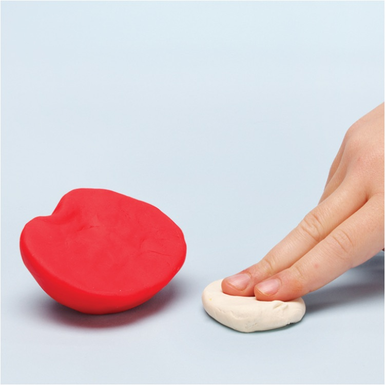 mold the Play-Doh apple